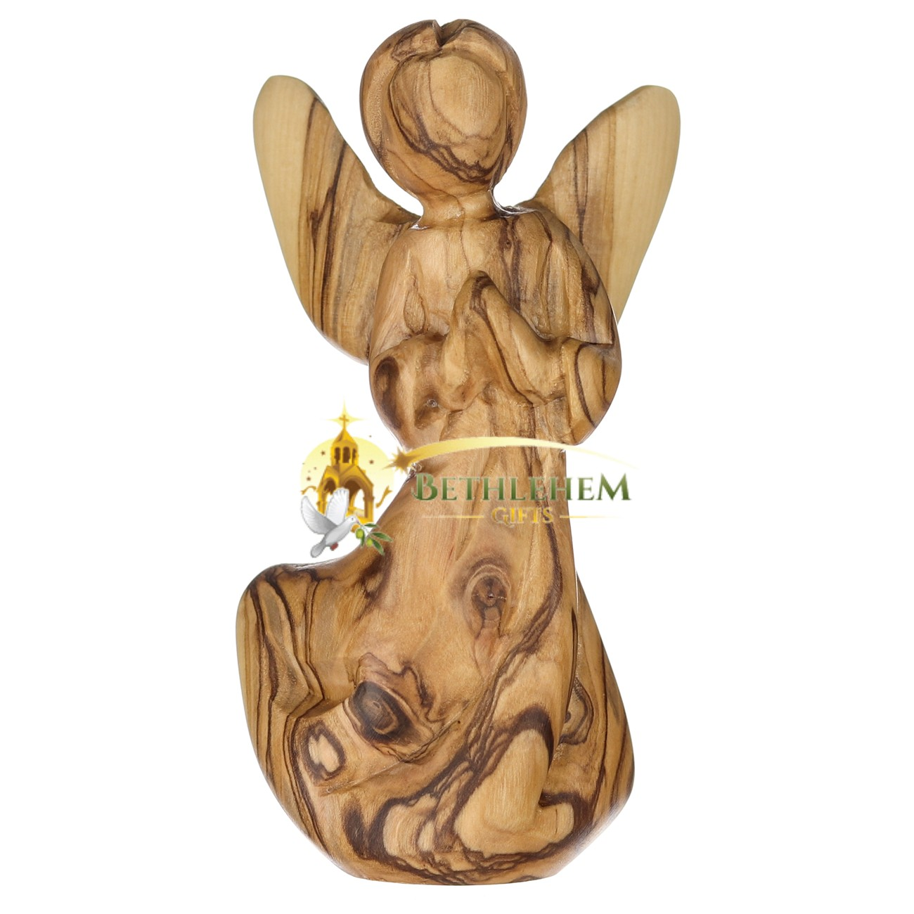 Olive Wood Handcrafted Wooden Angel from Bethlehem