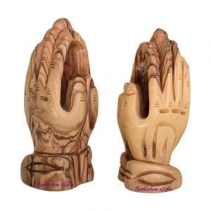 Wooden Praying Hands, made in bethlehem from olive wood