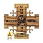 Jerusalem Cross God Bless Our Home Magnet