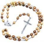 Olive Wood Chain Rosary-08