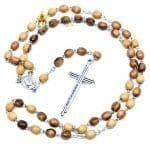 Olive Wood Chain Rosary-08-a