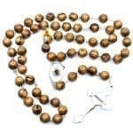 Olive Wood Chain Rosary-25-a