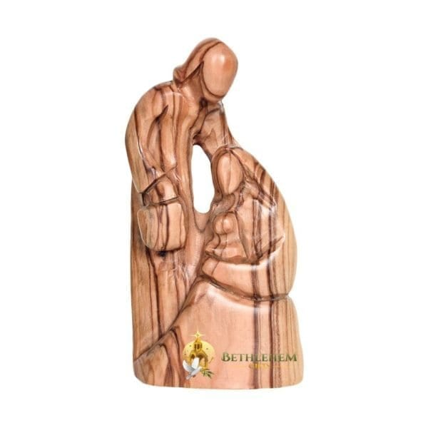 Olive Wood Holy Family with Lantern from Bethlehem