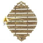 The Lord's Prayer Plaque English