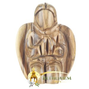 Wooden Small Praying Angel from Bethlehem