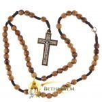 Olive Wood Cord Rosary-14