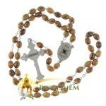 Olive Wood Chain Rosary-22-back