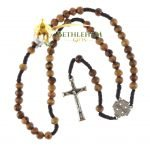 Olive Wood Cord Rosary-05
