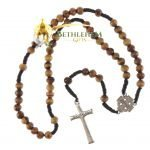 Olive Wood Cord Rosary-05-back