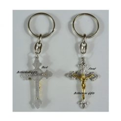 Silver Cross Key Chain