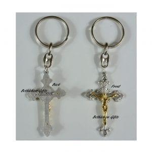 Silver Cross Key Chain