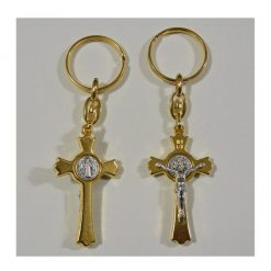St. Benedict Golden Cross Key Chain