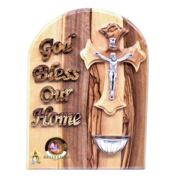 God Bless Our Home with Holy Water Font and Sample of Incense