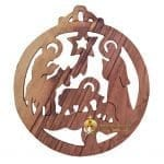 Handcrafted Olive Wood Christmas Ornament-11