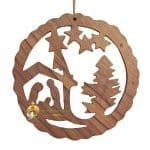 Handcrafted Olive Wood Christmas Ornament-5
