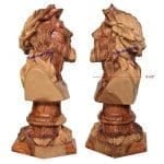 Olive Wood Bust of Jesus Head with Crown of Thorns Large-a