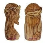 Olive Wood Bust of Jesus Head with Crown of Thorns-c