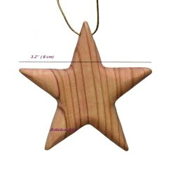 Hand crafted Christmas tree Olive Wood Star and Holy Family from Bethlehem