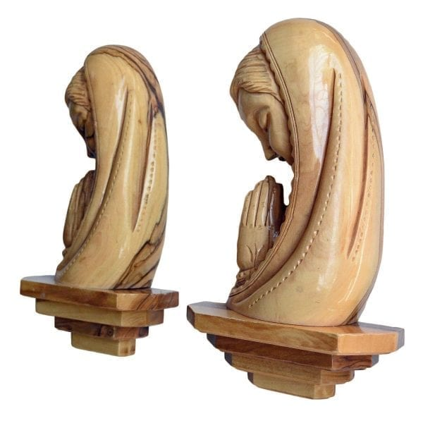 Praying Blessed Mother Plaque-b