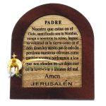 The Lord's Prayer Olive Wood Mahogany Spanish