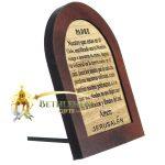The Lord's Prayer Olive Wood Mahogany Spanish-3