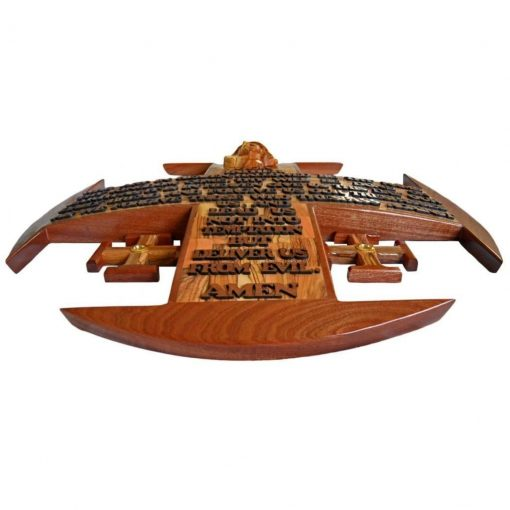 Olive wood Jerusalem Cross Olive Wood and Mahogany Large, hand crafted in Bethlehem