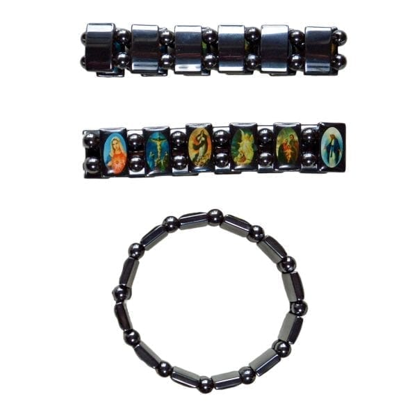 Hematite Religious Bracelet-02