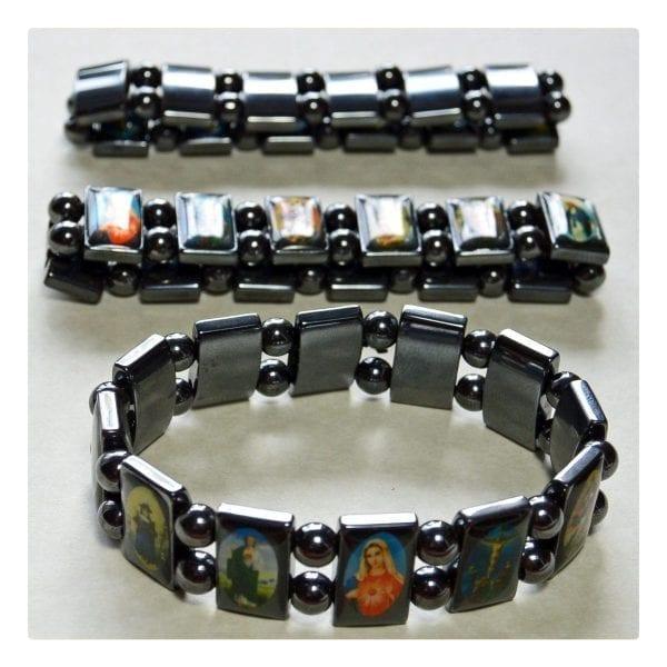 Hematite Religious Bracelet-02-b