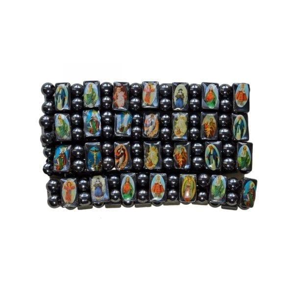 Hematite Religious Bracelet-02-c