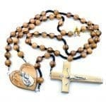Olive Wood Large Beads Cord Rosary