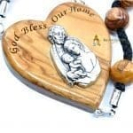 Olive Wood Large Beads Cord Rosary-a