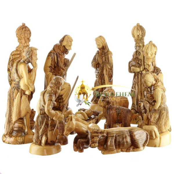 Olive Wood Nativity Figurines-11