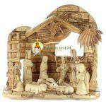 Olive Wood Nativity Set-01