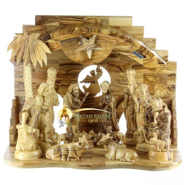 Olive Wood Nativity Set from Bethlehem