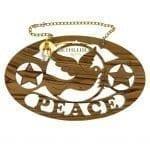 PEACE Dove Holy Spirit Plaque
