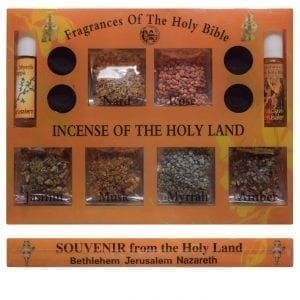 Samples of Incense from the Holy Land and Fragrances of the Holy Bible