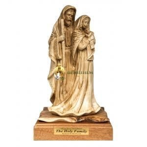 Olive Wood Large Holy Family from Bethlehem