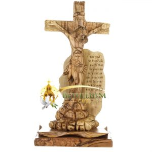 Olive Wood Jesus on His Cross from Bethlehem