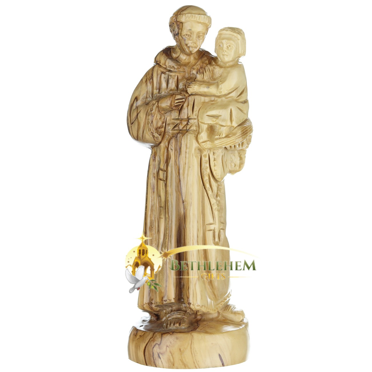 Saint Anthony Olive Wood Statue from Bethlehem