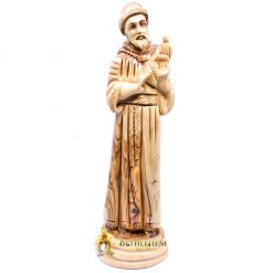 Saint Francis of Assisi Olive Wood Statue from Bethlehem