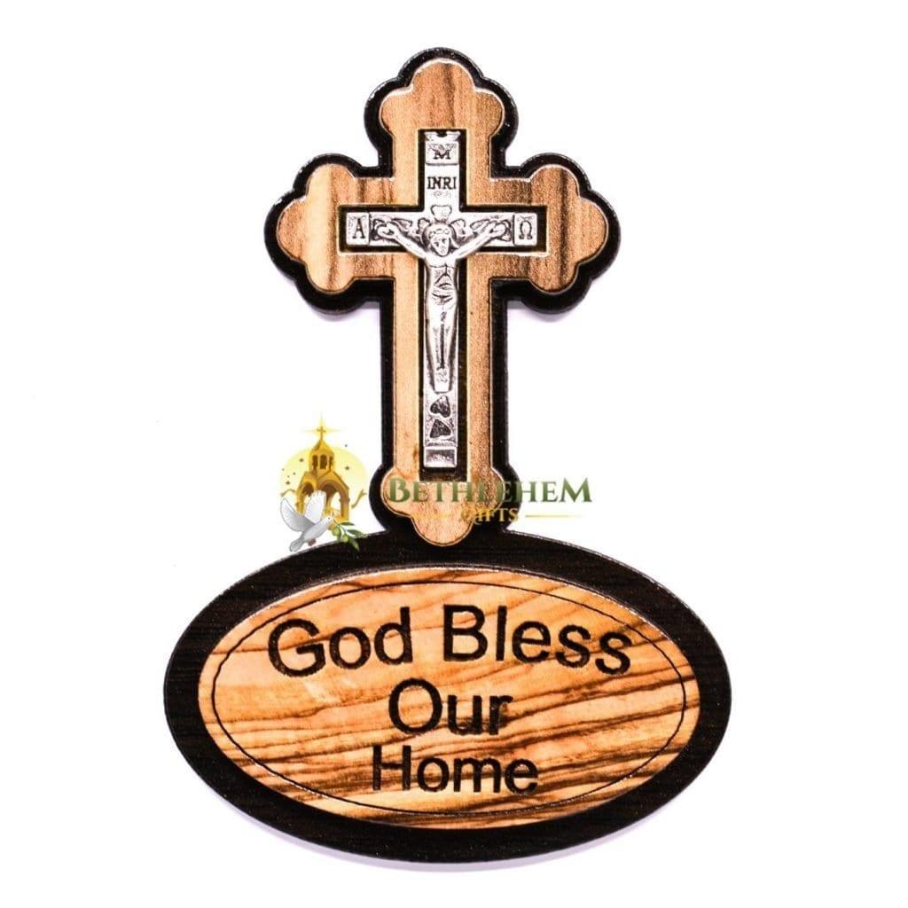 God Bless Our Home Cross Magnet Bethlehem