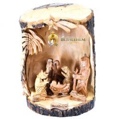 Olive Wood Nativity Cave from Bethlehem
