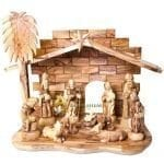 Olive Wood Nativity Set from Bethlehem