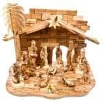 Olive Wood Nativity Set-13-a