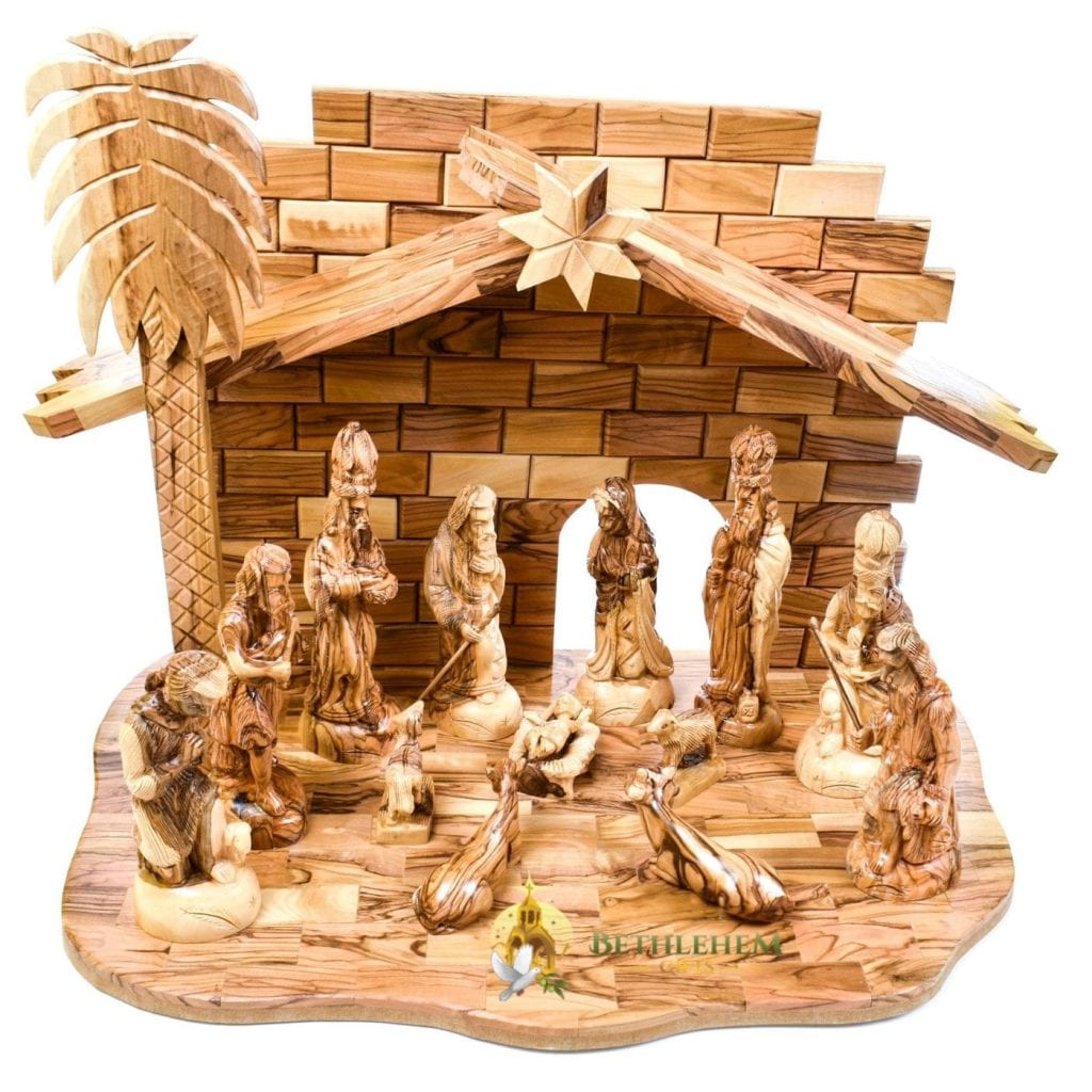Olive Wood Nativity Set-13-a
