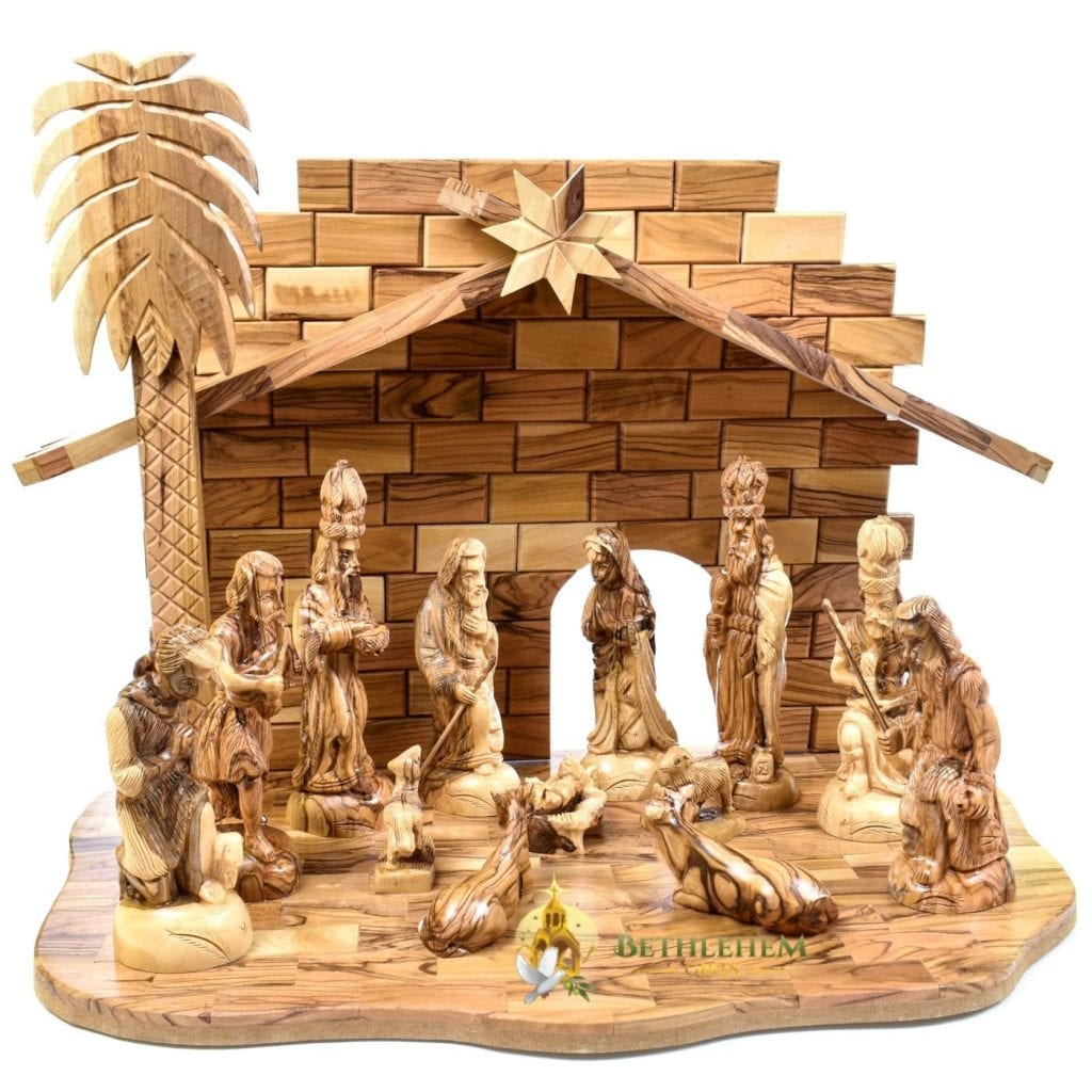 Olive Wood Nativity Set-13