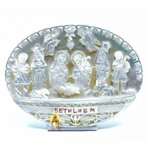 Mother of Pearl Nativity Scene from Bethlehem