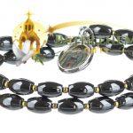 Hematite Pink Stone Bracelet-a