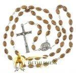 Olive Wood Chain Rosary-10