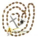 Olive Wood Chain Rosary-10-back
